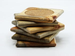Beetle Kill Pine Coasters 6 Pack