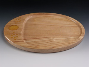 Oval Tray 1 Honey Locust Yellow Epoxy Resin