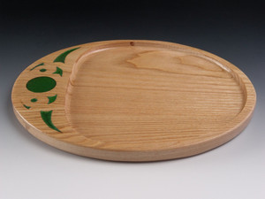 Oval Tray 2 Honey Locust - Serving Tray