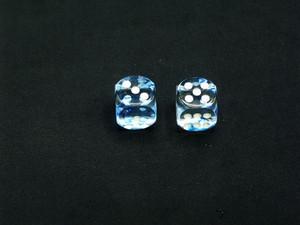 16mm d6 Nebula Dark Blue Dice