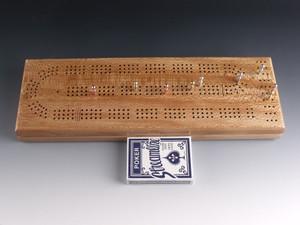 Quarter Sawn Sycamore 3 Player Cribbage Board