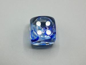 30mm Dice Nebula Dark Blue with White Pips