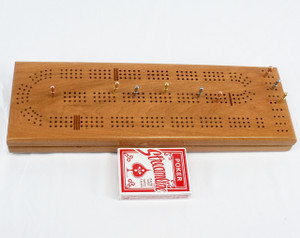 Cherry 3 Player Cribbage Board
