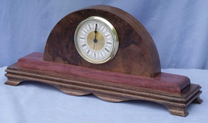 Walnut and Purple heart Mantel Clock