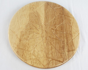 Birdseye Maple Square Rose Lazy Susan