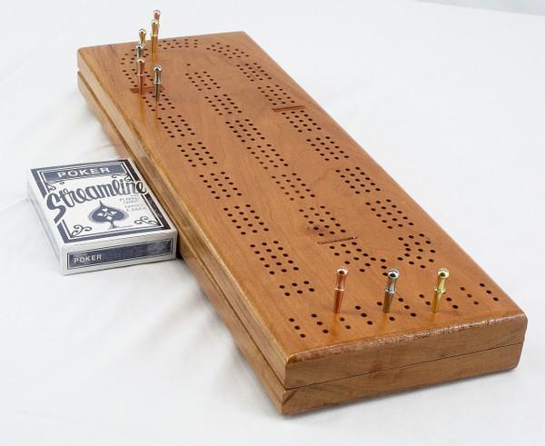 Cherry 3 Player Cribbage Board