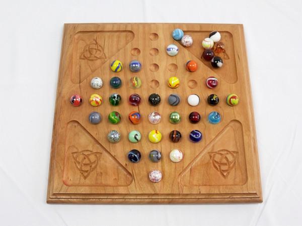 Deluxe Diamond Marble Solitaire - Cherry