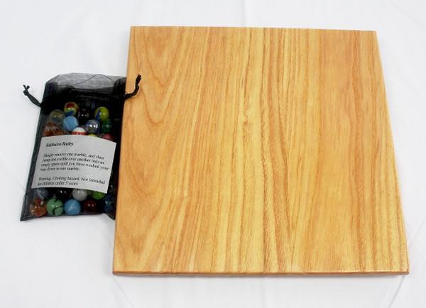 Deluxe Diamond Marble Solitaire - Honey Locust