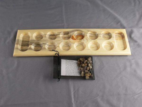 Basic Mancala game in Beetle Kill Pine
