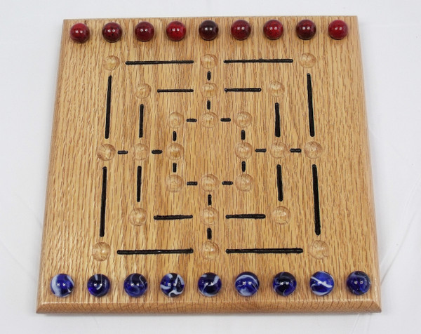 Nine Man Morris Game - Oak