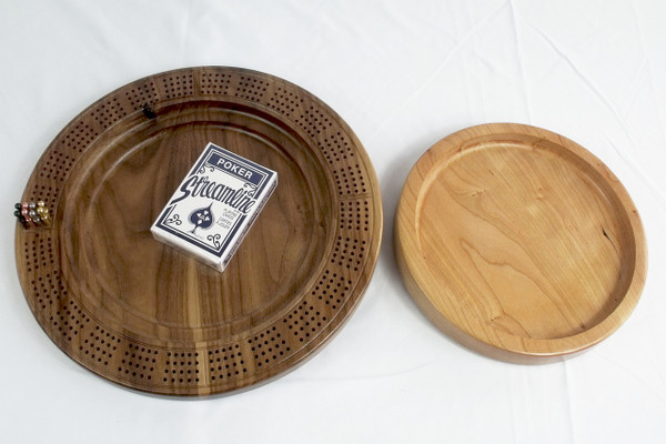 Four Player Cribbage Board Leaping Bass Cherry and Walnut