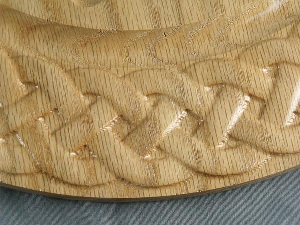 Deluxe Boulder sized Marble Solitaire - Oak