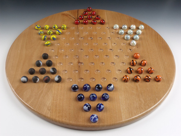 Wooden Chinese Checkers Game Alder