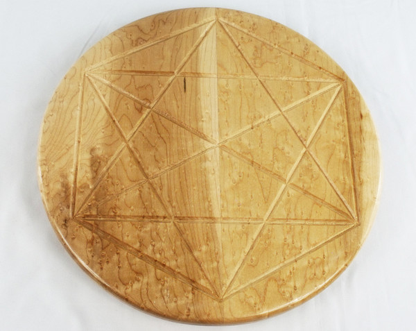 Birdseye Maple Octahedron Lazy Susan