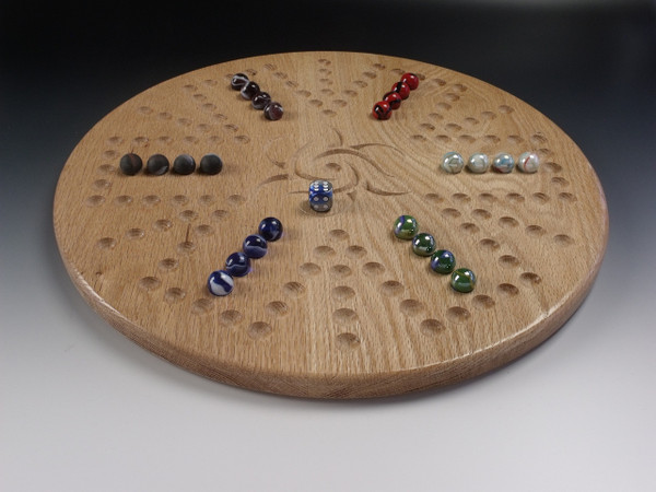 Aggravation 4 Player / 6 Player Combination board in Oak