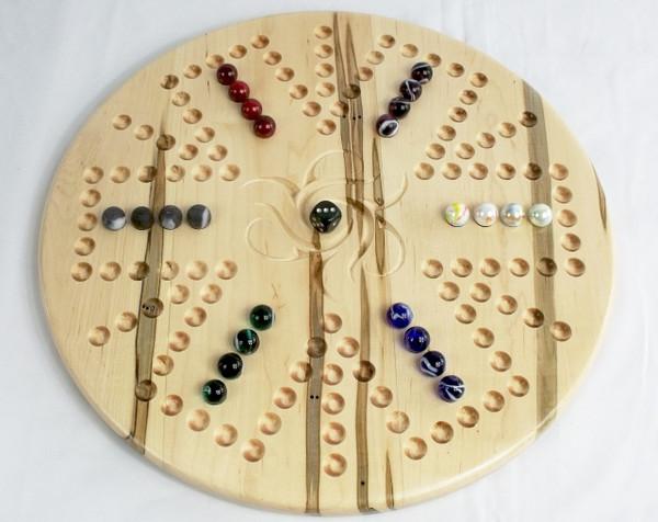 Aggravation 4 Player / 6 Player Combination board in Ambrosia Maple