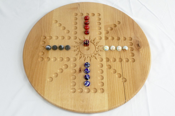 Aggravation 4 Player / 6 Player Combination board in Alder
