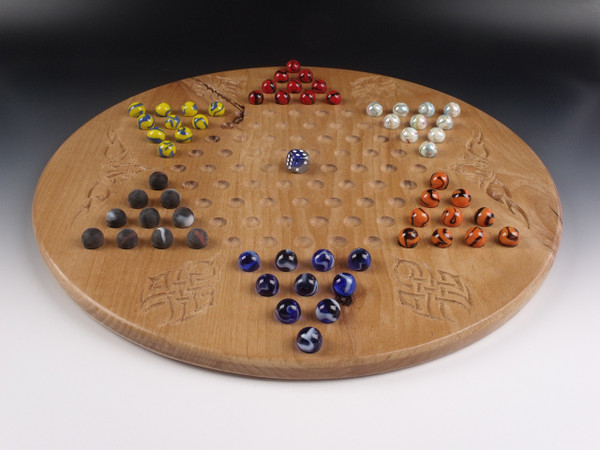 Deluxe Target Marble Chinese Checkers in Alder