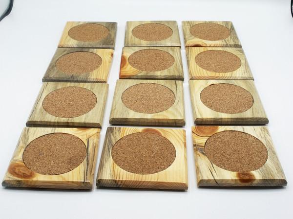 Beetle Kill Pine Coasters 6 Pack
