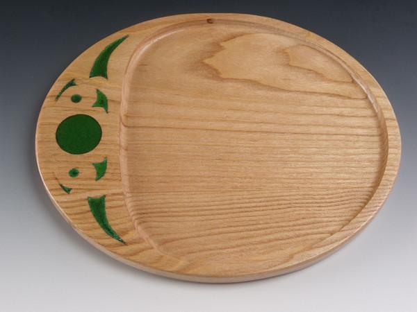 Oval Tray 2 Honey Locust - Serving Tray