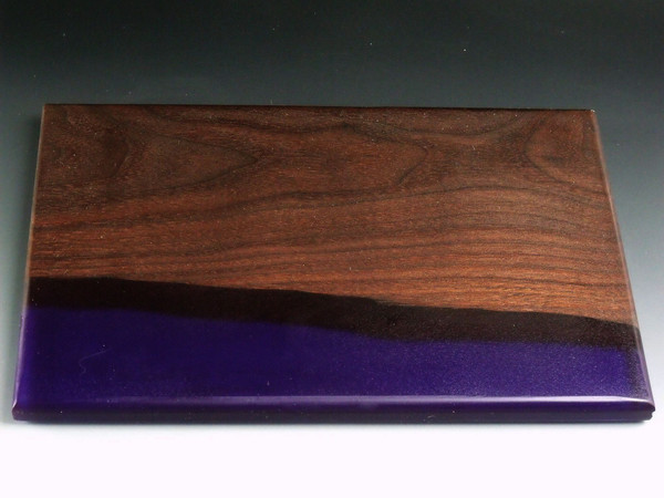 Walnut Small Purple Charcuterie Serving Board