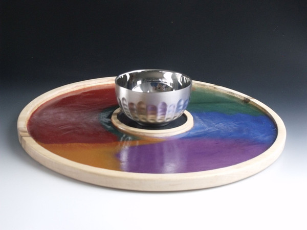 Serving Tray with Stainless Steel Bowl #3