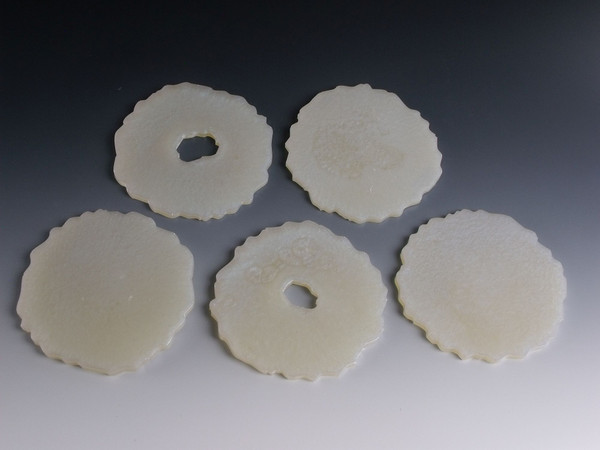 Resin Coasters or Spoon Rests Set of 5 - Ghost Blue