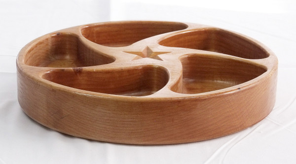 Wooden 5 Section Tray in Alder