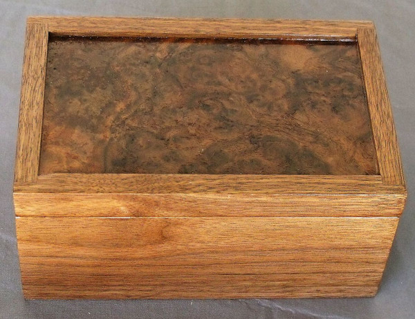 Invisible Hinge Box Walnut Walnut Burl
