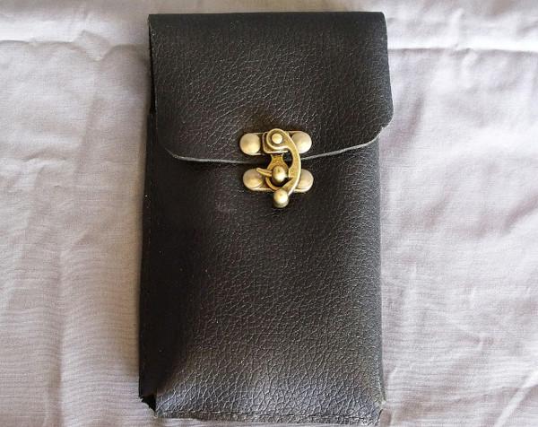 Black Leather Phone Holster