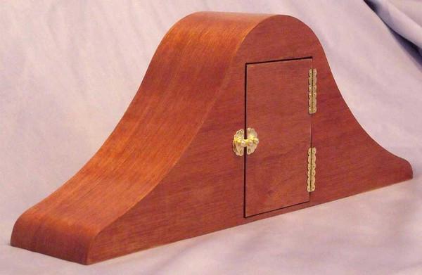 Mahogany Mantel Clock with Sapele Face