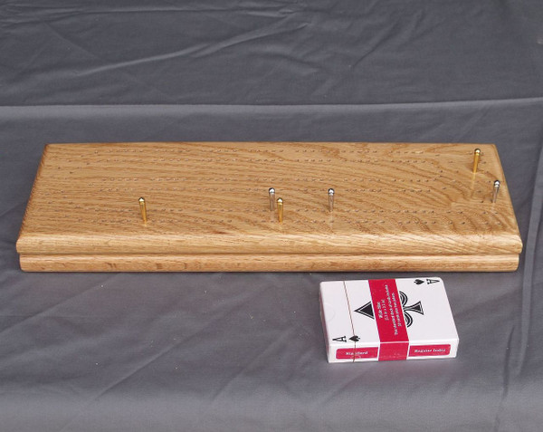 Red Oak 2 Player Cribbage Board