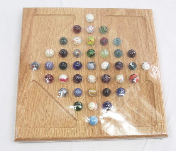 Diamond Marble Solitaire - Oak