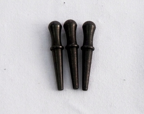 Cribbage Pegs Set of 3 in Black