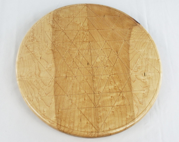Birdseye Maple Sri Yantra Lazy Susan