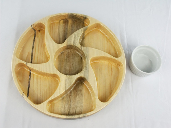 Six section lazy Susan in Beetle Kill Pine