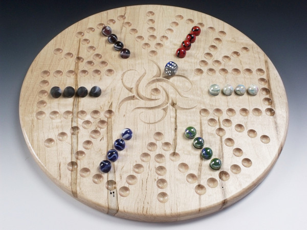 Aggravation 4 Player / 6 Player Combination board in Ambrosia Maple