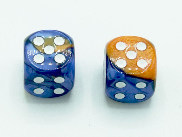 16mm d6 Gemini Blue-Orange dice