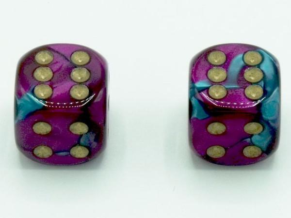 16mm d6 Gemini Teal-Purple