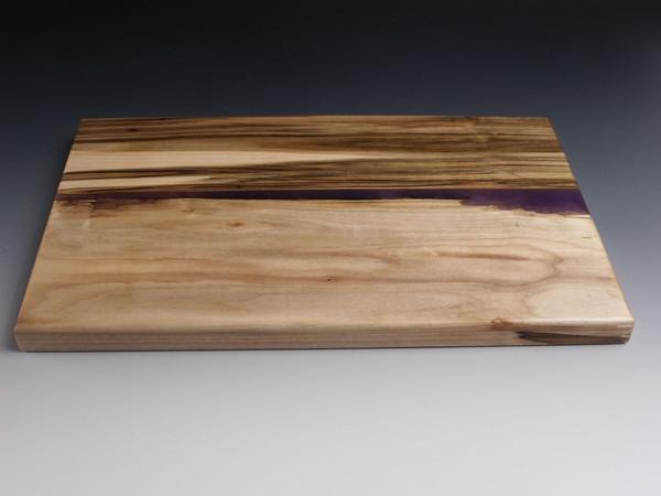 Maple Small Live Edge Purple Charcuterie Serving Board