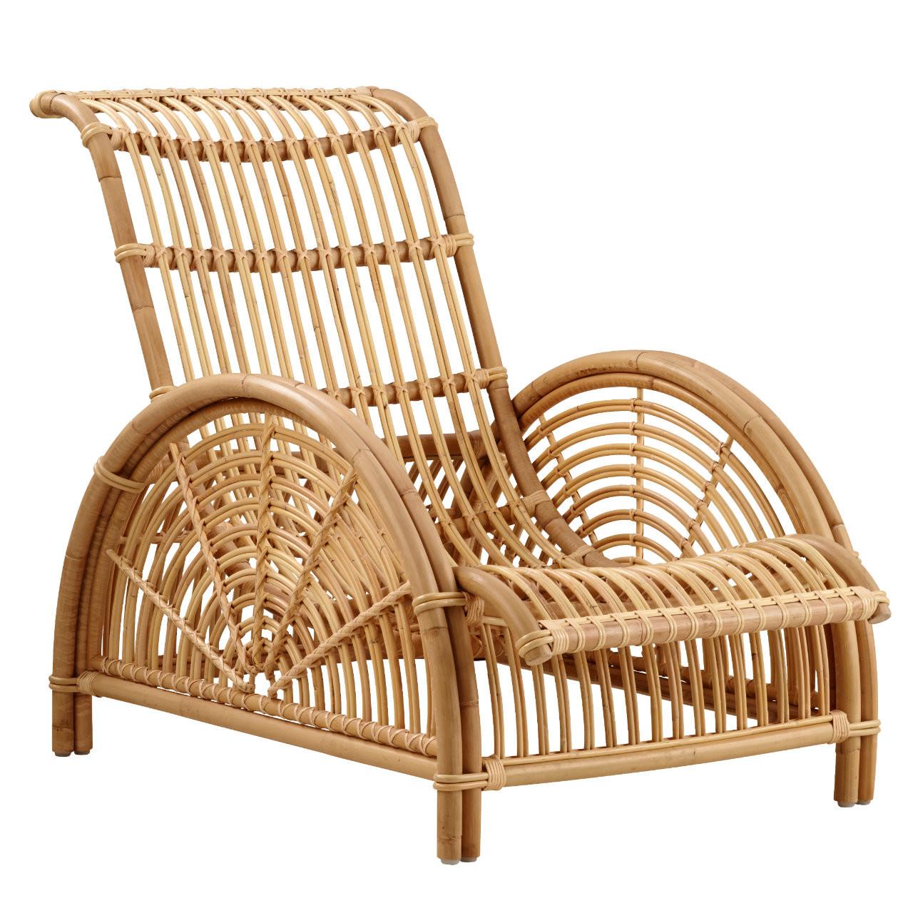 Sika Design Arne Jacobsen Paris Chair Rattan Lounge Chair