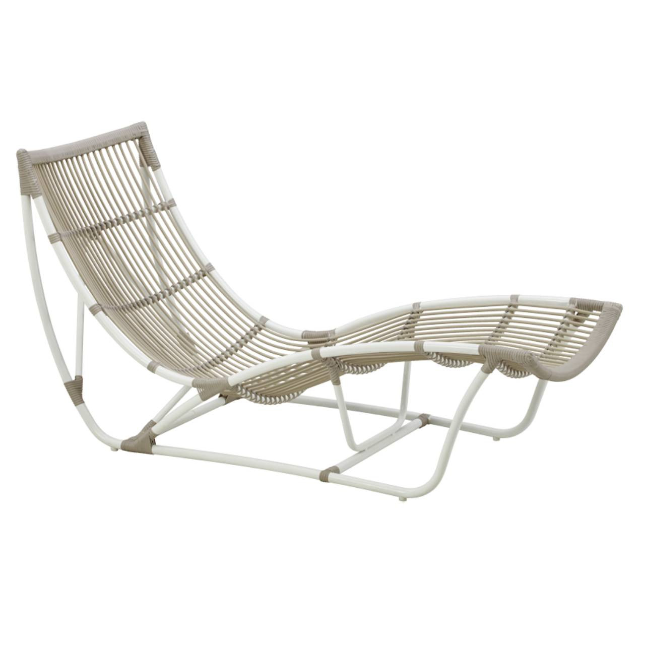 Chaise Lounge Rattan Sintetico.Sika Design Michelangelo Daybed Exterior Outdoor Chaise Lounge