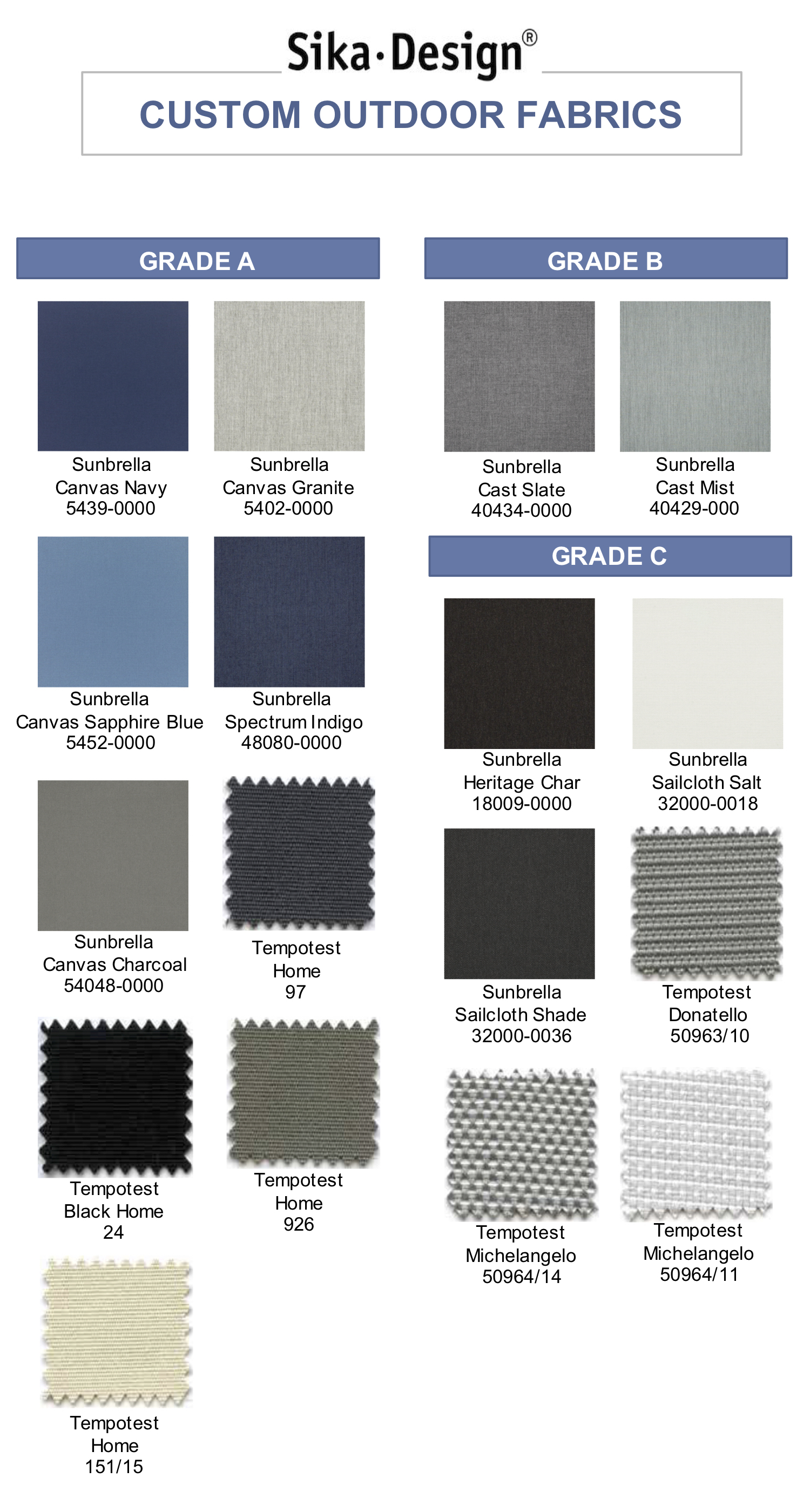 Sika Design Custom Outdoor Fabrics