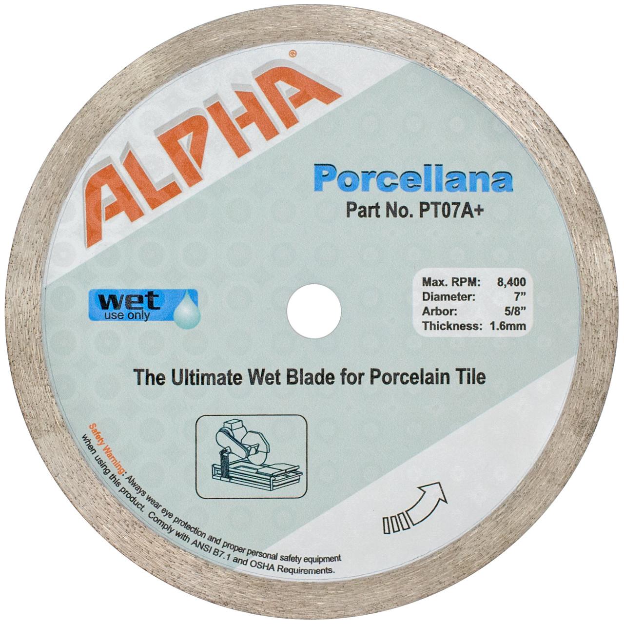 Alpha Porcellana Wet Porcelain Tile Blades
