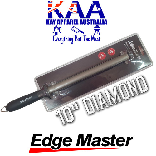 Edge Master Diamond Sharpening Steel 10""