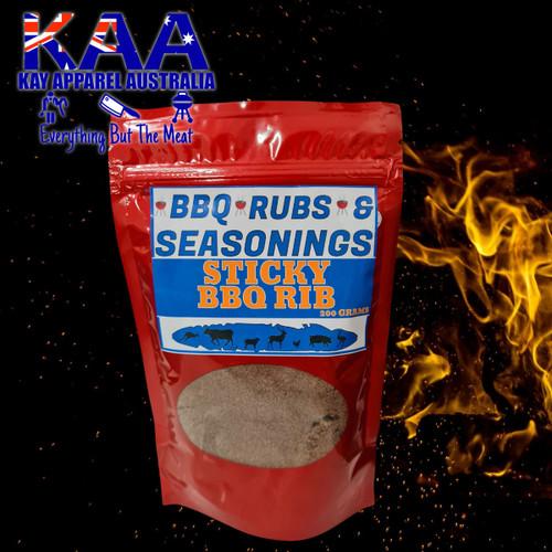 BBQ Rubs, Sticky Rib BBQ Rub Glaze 200 Grams
