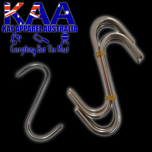 S Hook 10 X 6 inch Stainless steel, Meat Hook, Point Both Ends