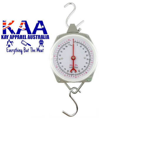 Hanging Scales With Hooks 100KG Clock Face Scales