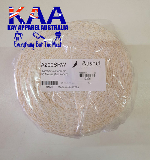 ​​Elastic Meat Wrap Netting 50 Meter Roll 200mm White