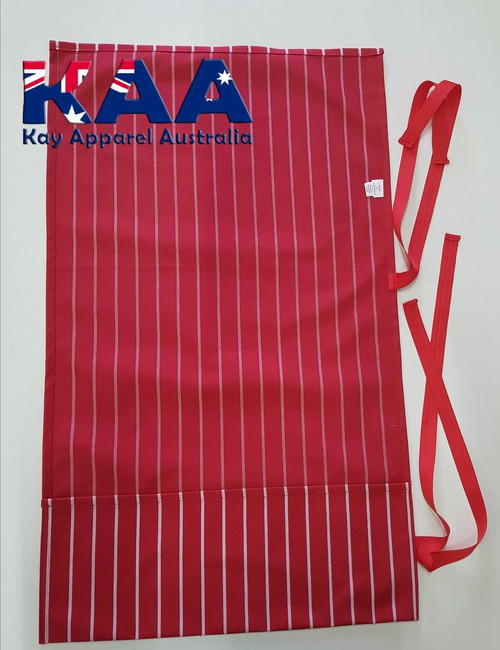 Red And White Pinstripe Knife Roll 6 Pocket